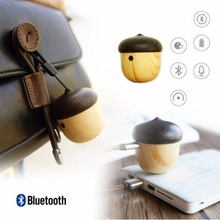 Portable Mini Bluetooth Speaker Cute Wood-Grain Nut Shape Wireless Loudspeaker Sound Box with Handsfree Mic for Xiao iPhone(China)