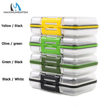 Maximumcatch DIN 150*105*45mm Double Side Waterproof Plastic Fly Box Slit Foam Insert Multi Color Fly Fishing Box(China)