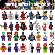 Batman joker Robin Deadpool Logan XMen DC Marvel legends Super heros legolas duplo Building Blocks figures Toys For Children