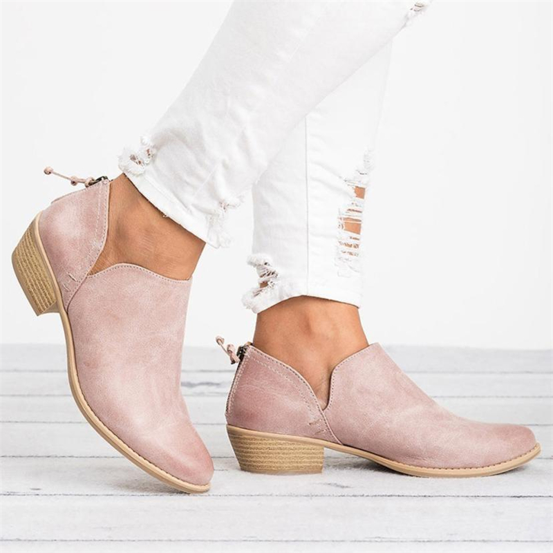 2018 NEW Women Ladies Autumn Shoes Fashion Ankle Solid Leather Martin Shoes Short Boots  O0531#3010