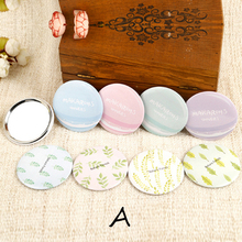 CN-RUBR Colorful Pocket Makeup Mirrors Sweet Cartoon Portable Cosmetic Mini Mirror for Girl's Gift Beauty Tools Round Mirrors