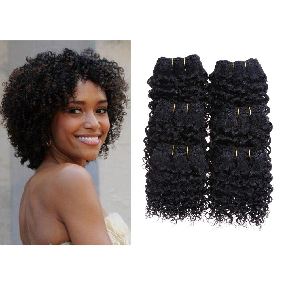 Cheap Ombre 6Bundles/lot 300g 50g/pc Short Size 8Inch Brazilian Deepwave 7A Grade Human Hair Extension 100% Human Hair Weave <br><br>Aliexpress