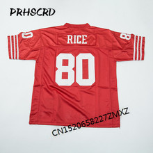 Retro star #80 Jerry Rice Embroidered Throwback Football Jersey(China)