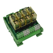 4 channel 1 SPDT DIN Rail Mount IDEC RJ1S Interface Relay moudle(China)