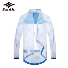 2017 Santic Men Cycling Rain Jackets Coat Long Sleeve Windproof Sports Bicycle Bike Rain Jacket Jersey Skinsuit Cycling Clothing