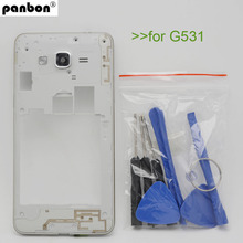Panbon Middle Frame Plate Bezel Housing Case For Samsung Galaxy Grand Prime G531 G531H Free Tools Replacement Parts(China)