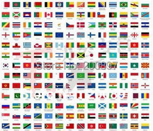 Promotion wholesale discount olympic flags World national hand flags14*21cm 100pcs/lot(China)
