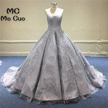 Unique 2018 Wedding Dresses Embroifery Bridal Gowns Sweetheart Off Shoulder vestido de noiva Ball Gown Wedding Dress 100% Real(China)
