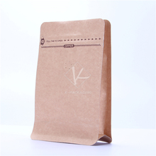 5 pcs 12x19cm Alu Foil Flat Bottom Coffee Packaging Supplies / Stand up Kraft Paper Pouch / Coffee Bag with Valve