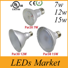 Led Spot Lamp Par20 Par30 Par38 Led Bulb E27 E26 AC85-265v Dimmable Led Spotlight Lighting Warm Cold White Waterproof IP UL CE