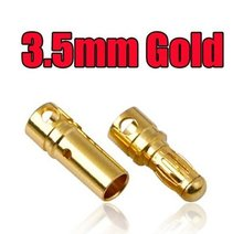 100 pcs(50 pair)2.0 3.5 4.0 mm Gold Bullet Banana Connector plug for Quadcopter Motor ESC Lipo battery Plugs Connect(China)