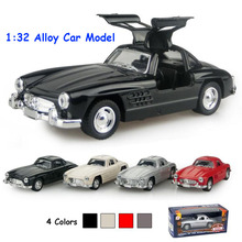 Alloy Classic Car Model, Ratio 1:32 Die cast Pull Back Vehicle Model, Car Model toys Old Fashion(China)