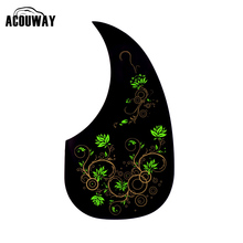 "Acouway Guitar Scratch Plate Pickguard for 40"" 41"" inch guitar Acoustic Pick Guard Sticker self adhesive black color(China)"