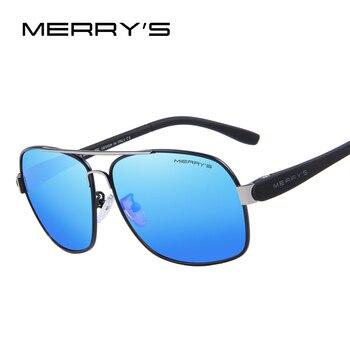 MERRY'S Cor Da Lente do Espelho TR90 Da Moda Óculos De Sol Polarizados dos homens Óculos Acessórios Óculos de Condução Óculos de Sol S'8501