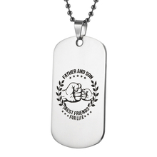 Stainless Steel Pendant My Son Tag father son  Necklace Nameplated Necklace Dog Tag Best friends for life