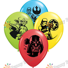 Wholesale  balloons 12pcs/lot Star Wars  Latex Balloons birthday party decorations Helium Balloon toys for kids party supply