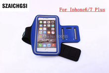 SZAICHGSI 1000pcs sport Arm Band Phone Case Cover Run Sport Fitness Wrist Hand Belt Pouch Bag for apple iphone 6 7 plus(China)