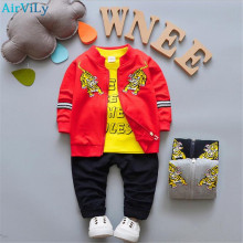 2018 Newborn Baby Boys Girl Clothes Spring Autumn T shirt Coat Pants 3PCS/Sets Outfits Kids Jogging Suits Childrens Tracksuits(China)