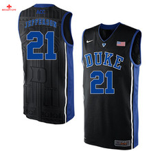 Nike 2017 Duke Amile Jefferson #21 Can Customized Any Name Any Logo Ice Hockey Jersey(China)