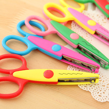 6 pcs/lot DIY Craft Scissors Wave Edge Craft School Scissors for Paper Border Cutter Scrapbooking Handmade Kids Artwork Card(China)