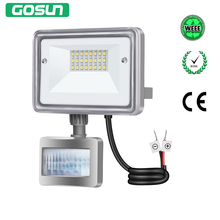 GOSUN LED Flood Light 10W PIR Motion Sensor Floodlight Outdoor Wall Spotlight Waterproof AC 12-24V Stree Security Spot Lights(China)