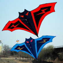 1pcs/High quality outdoor sports, kite size 1.8 m red and blue bat easy control kite toy.