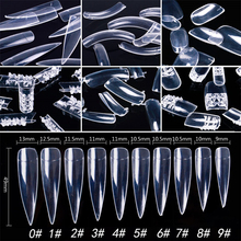 10 Pcs/Pack Transparent False Nail Tips Full Cover Half Cover Fake Nail Artificial Nail Tip Manicure DIY Art Nail Tool(China)