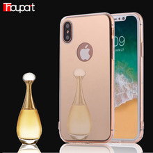 Thouport For Apple Iphone X Case Luxury Mirror Back Cover Cases Soft TPU Frame For Iphone X Case Iphone 10 Ten Phone Protector(China)