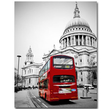 Modern London Red Bus Car Wall Art Picture Melamine Sponge Board Canvas Prints Oil Painting Unframe Art Picture London Paint