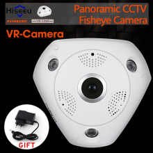 HD WiFi Panoramic Camera 360 Degree e-PTZ Fisheye Network IP CCTV Camera Video Storage Remote IR-CUT Onvif Audio-in P2 Hiseeu