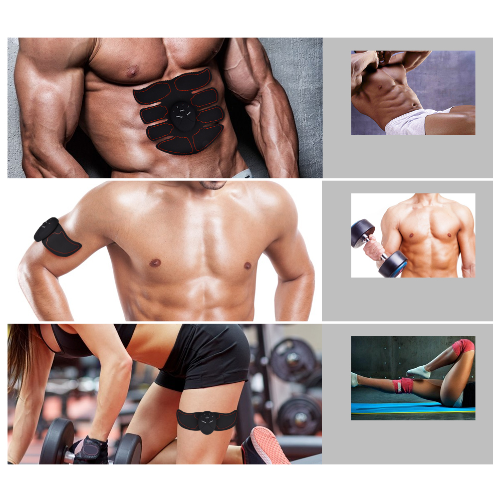 EMS Abdominal Muscle Training Stimulator Device Wireless Belt Gym Professional Body Slimming Massager Home Fitness Beauty Gear 2