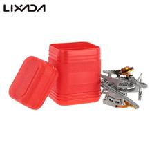 LIXADA 17*7cm Mini Camping Stoves Folding Outdoor Gas Stove Portable Furnace Cooking Picnic Split Stoves 3000W Cooker Burners(China)