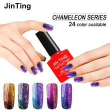 JinTing 24 Color 10ml 3D Colorful Phantom Nail Gel Polish Chameleon Gel Manicure UV Gel Color polish Need UV LED Lamp(China)