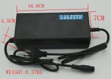 Electric bike charger lithium battery charger 36V/37V/42V 2A for 10S Lipo/Li-ion Batteries