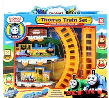 Juntao Plastic Thomas Train Railway Play Set Long Orbit Small Locomotive Kids Christmas Toys For Children Boys 2018 New Year(China)