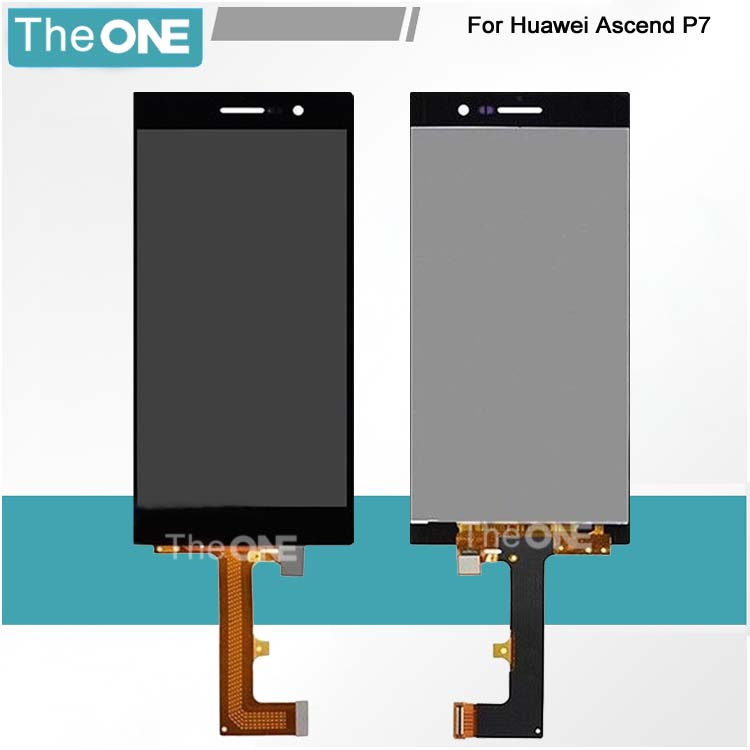 For Huawei Ascend P7 LCD Display+Touch Screen Glass Panel Digitizer Accessories For Huawei P7 Smartphone Free shipping<br>
