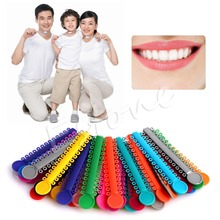 40 Sticks 1Pack Dental Ligature ties Orthodontics Elastic Rubber Bands Multi Color(China)