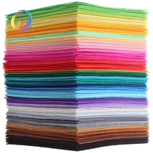 1mm Thickness Polyester Non Woven Felt Fabric Cloth Felts Of Home Decoration Pattern Bundle For Sewing Dolls Crafts 40pcs15x15cm(China)