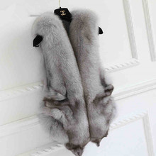 New arrival Perfect look Real fox fur vest Gilet .autumn Winter best selling Genuine fox fur Cape shawls  wedding  shawls