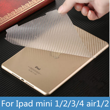 3D Full Body Luxury Carbon Fibre Full Body Skin Sticker For apple ipad 2 3 4 7 mini 1 2 3 4 air 1 2 Pro Screen Protector Film