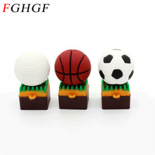 FGHGF Mini ball usb flash drive USB 2.0 flash memory stick pen drive pendrive 4GB 8GB16GB 32GB boy gift Real capacity U disk(China)