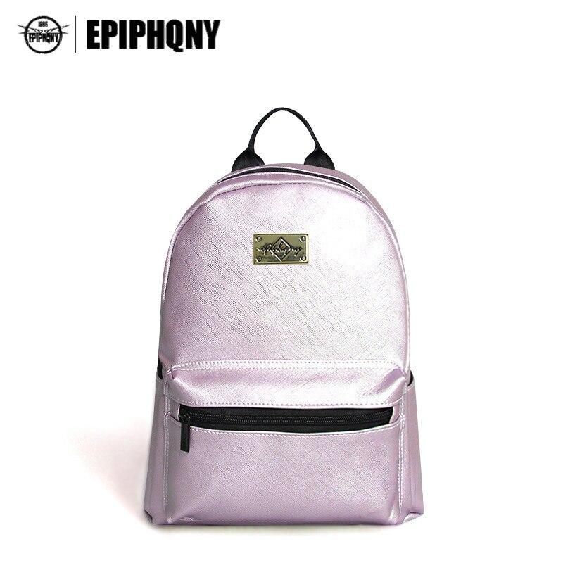 Epiphqny Famous Brand Fashion Women Backpack PU Leather Backbag Cross Printing Travel Bag Girls School Packbag Small<br>