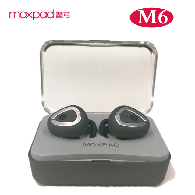 2017 Newest! Moxpad M6 Wireless Earphones Separating Earbud Bluetooth 4.1 TWS Earphones Stereo Music Headsets with Charge Case<br>