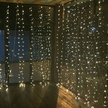 4.5Mx3M 300leds icicle led curtain string fairy light Xmas Christmas Wedding Out home garden party garland decor 110V 220V(China)