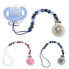 Buy Blue Eye Baby Kids Pacifier Chain Clip Holders Dummy Soother Nipple Leash Strap for $1.91 in AliExpress store