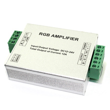 D5  DC12V-24V 3 Channel Max 12A Aluminum Led RGB Amplifier Controller Common Anode for Led Strip SMD3528 and 5050
