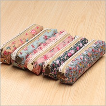 Fresh Style Lace Fringe Little Flowers Multi-function Zipper Pencil Bag Storage Bag Gift Stationery