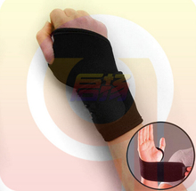 1pair Wrist Gloves Exercise Palm Wrist Strap Hand Support Elastic Brace Sports Adjustable W11428479(China)
