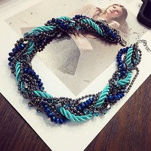 12 pcs/lot Multilayer handmade crystal necklace jewelry