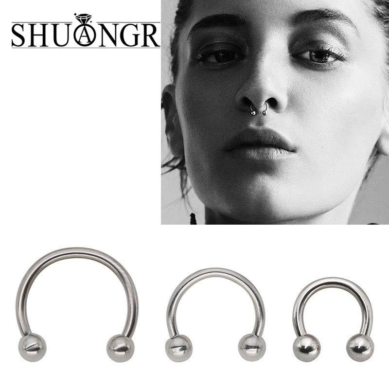 No Pierce Nose Ring Earrings Eyebrow Lip Eye Brows Ear Piercing Clip On Rings